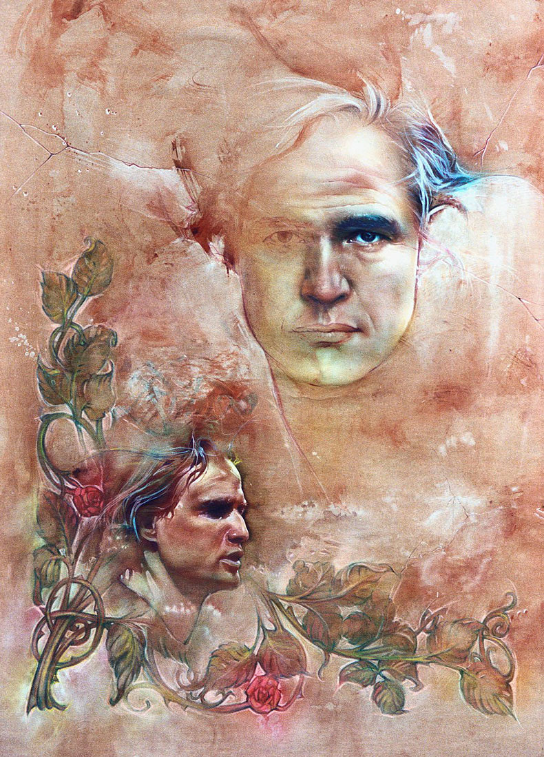 Brando, watercolor on paper.