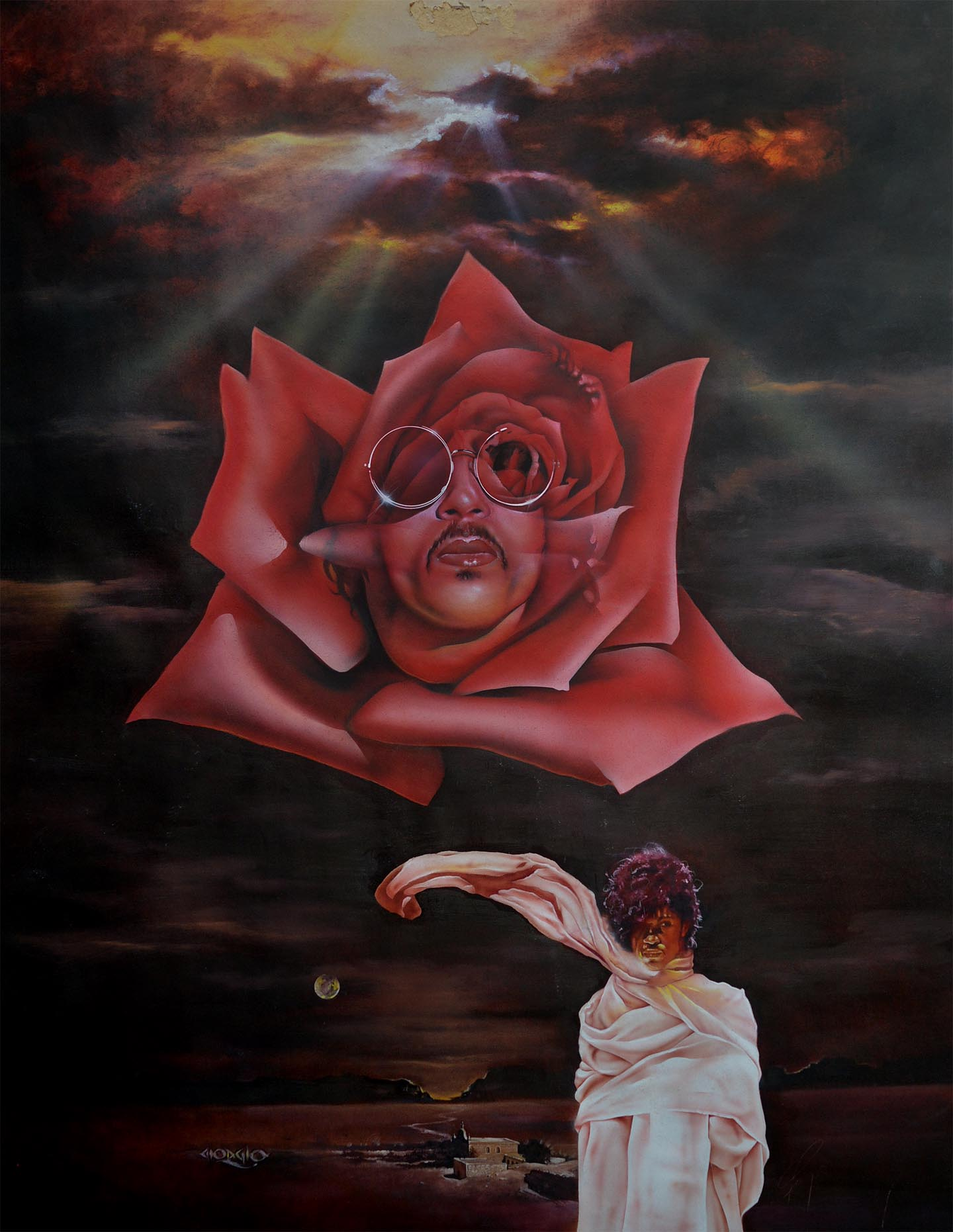 Prince With Rose, oil.